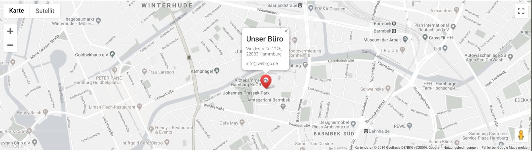 Internetagentur Webrgb auf der Google-Karte
